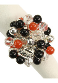 Oklahoma State Cowboys Womens Beaded Stretch Ring - Black