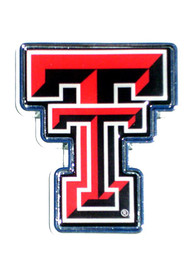 Texas Tech Red Raiders Domed Logo Car Emblem - Red