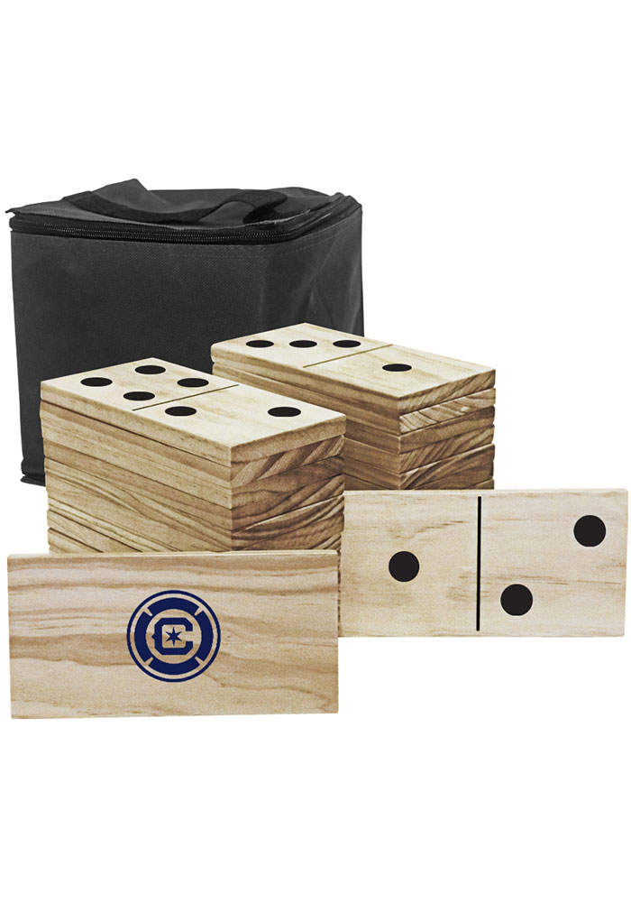 Chicago Fire Yard Dominoes Tailgate Game - Image 1