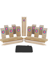 Chicago Cubs Kubb Chess Tailgate Game