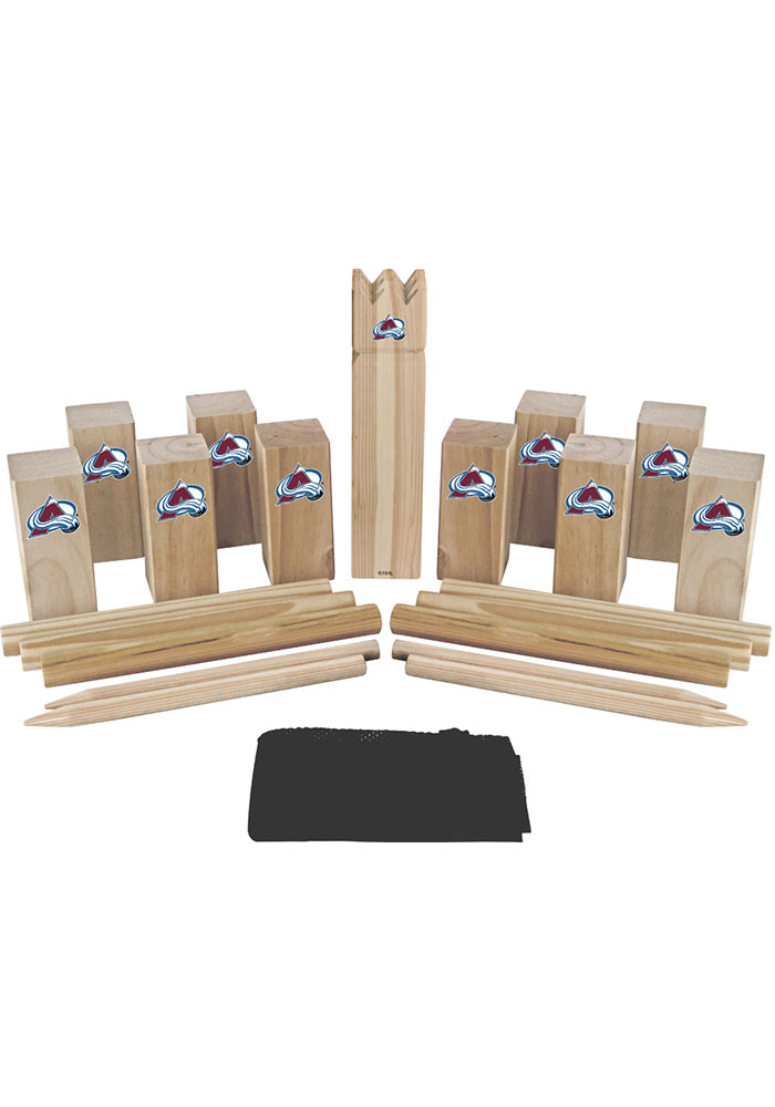 Colorado Avalanche Kubb Chess Tailgate Game - Image 1