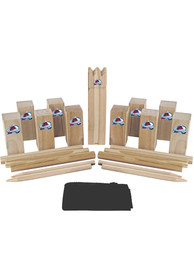 Colorado Avalanche Kubb Chess Tailgate Game
