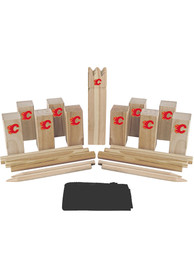 Calgary Flames Kubb Chess Tailgate Game