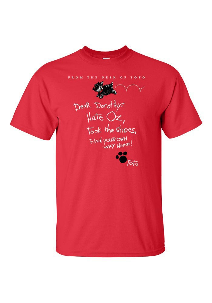Toto Wizard of Oz Womens Red T-Shirt - Image 1