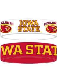 Iowa State Cyclones Kids 2pk Bulky Bands Bracelet - Red