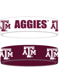 Texas A&M Aggies Kids 2pk Bulky Bands Bracelet - Maroon