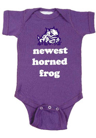 TCU Horned Frogs Baby Purple Newest One Piece