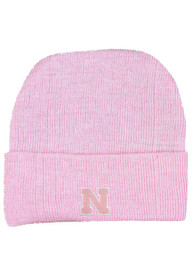 Nebraska Cornhuskers Infant Cuffed Newborn Knit Hat - Pink