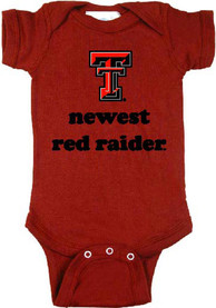 Texas Tech Red Raiders Baby Red Newest One Piece