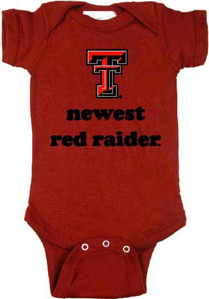 Texas Tech Red Raiders Baby Red Newest Short Sleeve Creeper - Image 1