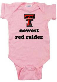 Texas Tech Red Raiders Baby Pink Newest One Piece