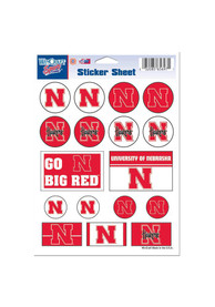 Nebraska Cornhuskers 5x7 Sheet of Stickers