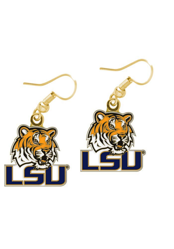LSU Tigers Logo Dangle Womens Earrings - Image 1