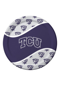 TCU Horned Frogs 9 Inch 8 Pack Paper Plates