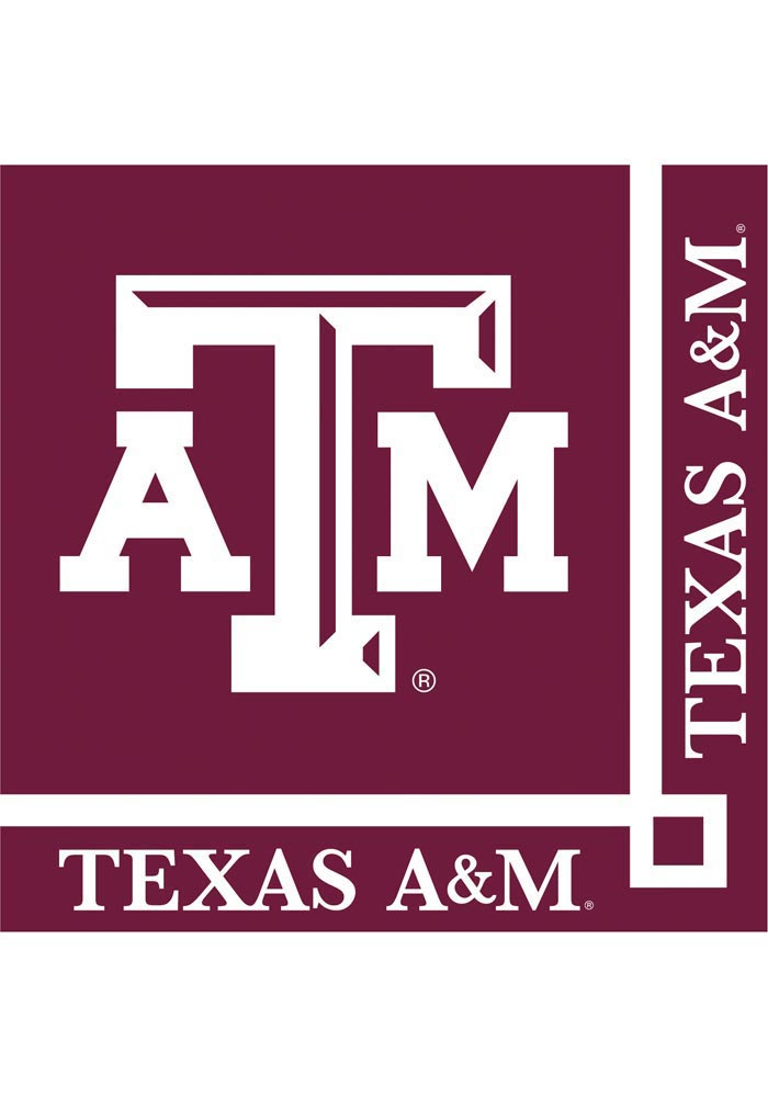 Texas A&M Aggies Beverage 20 Pack Napkins - Image 1