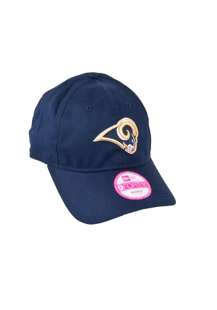 New Era St Louis Rams Navy Blue Sideline Womens Adjustable Hat - Image 1