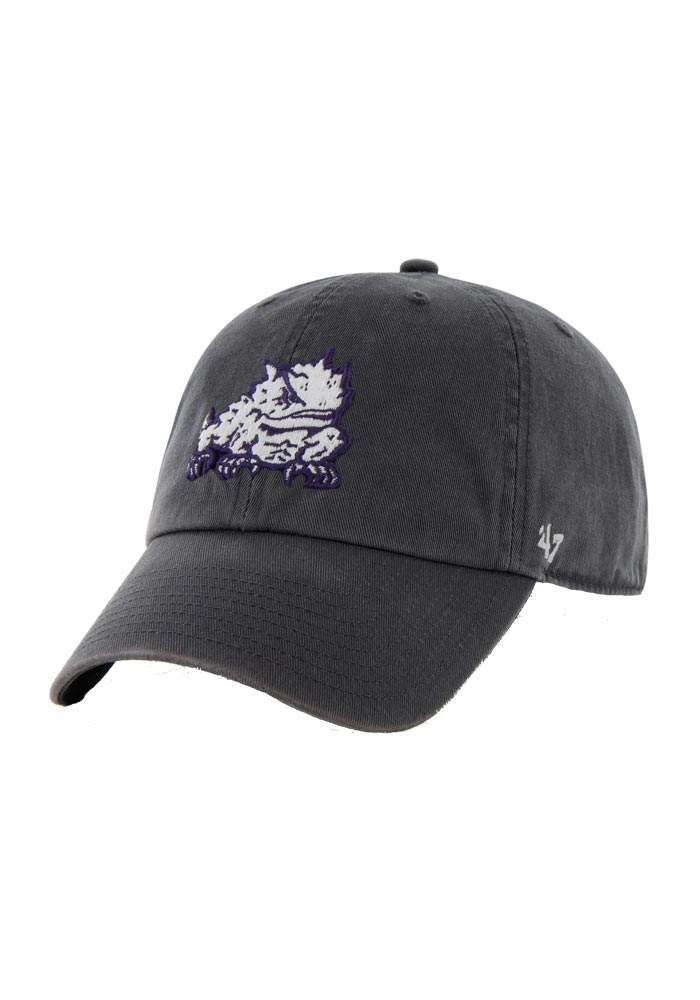 new product e078a f09b2 ... get 47 tcu horned frogs grey clean up adjustable hat 2313e 43a76