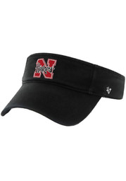 '47 Nebraska Mens Black Adjustable Visor