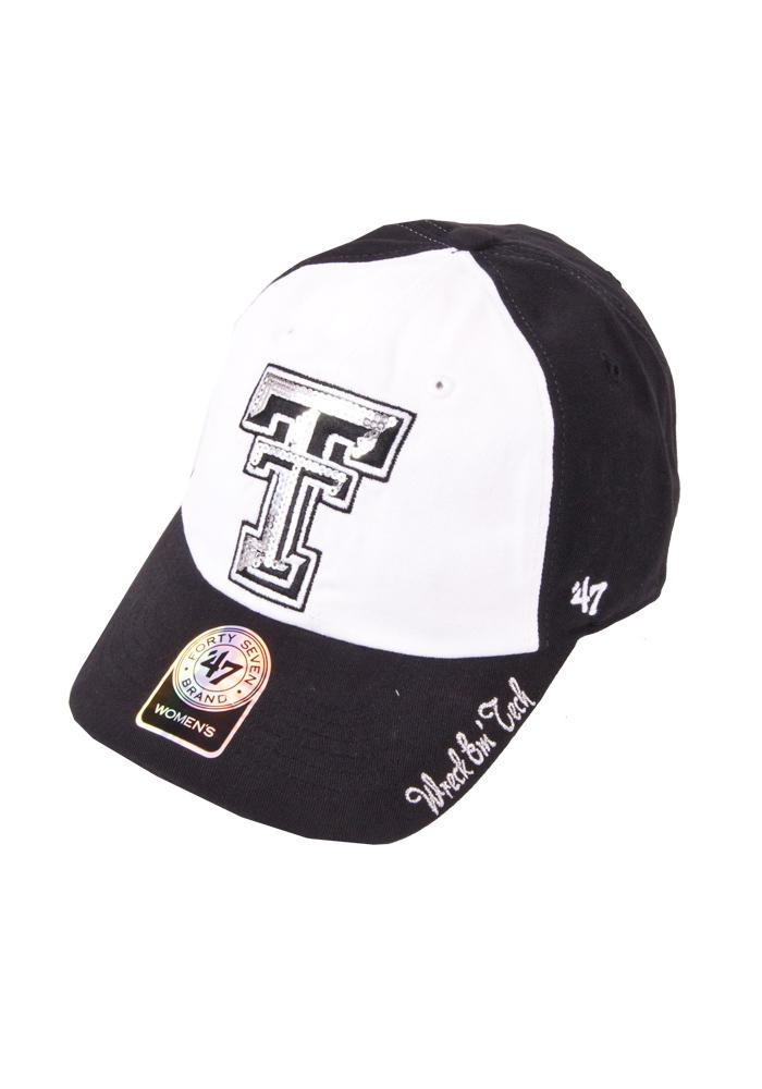'47 Texas Tech Red Raiders Black Sparkle Womens Adjustable Hat - Image 1
