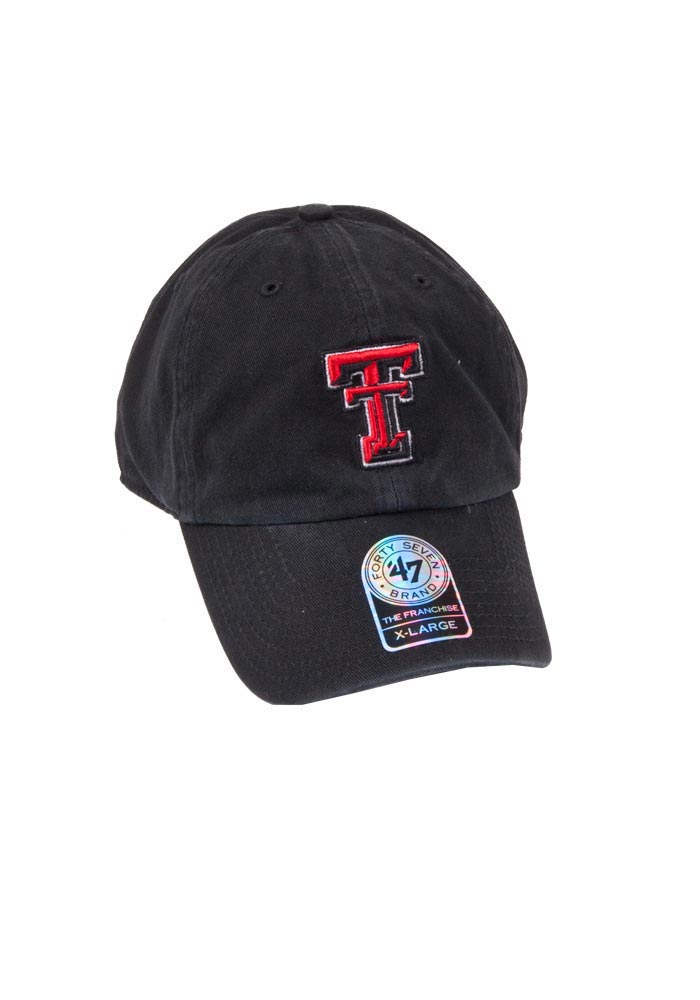 '47 Texas Tech Red Raiders Mens Black Franchise Fitted Hat - Image 1