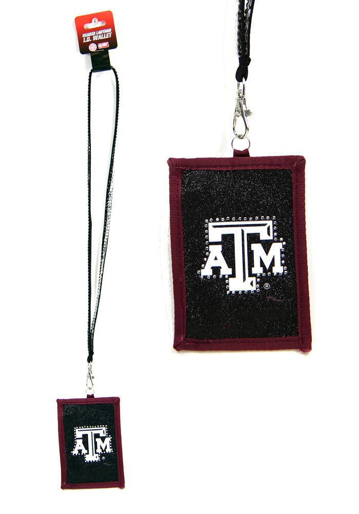 Texas A&M Aggies Beaded Wallet Black Lanyard