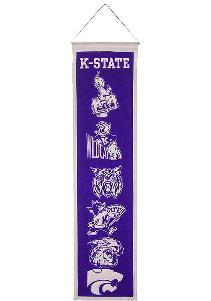 K-State Wildcats 8x32 Heritage Banner - Image 1