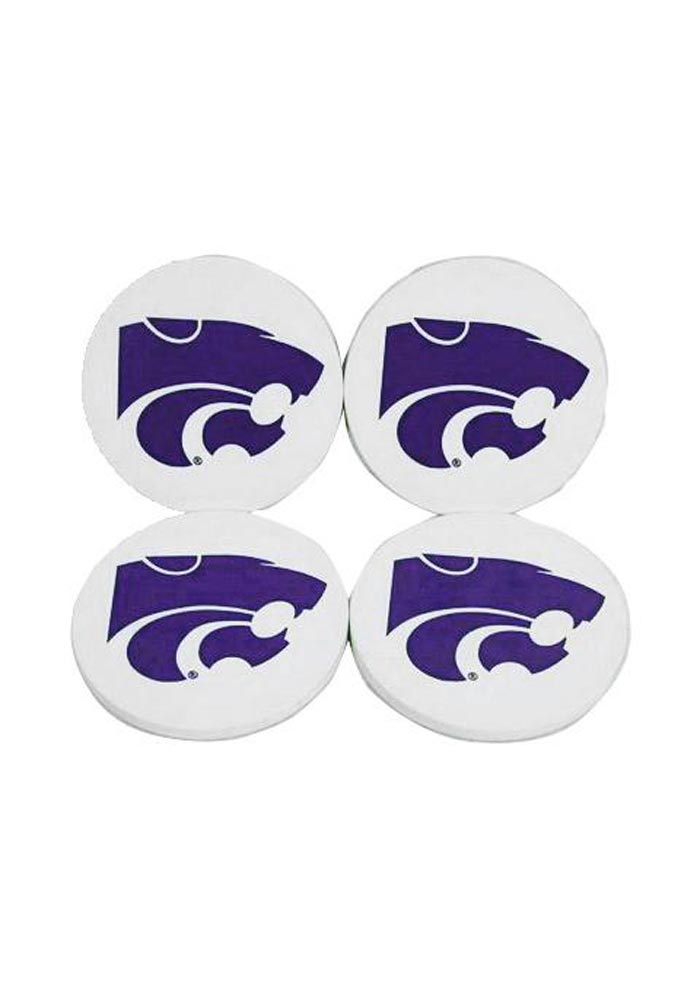 Sandstone NCAA Legacy Kansas State Wildcats Thirsty Car Coaster 2-Pack One Size