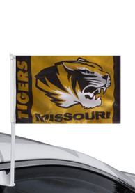 Missouri Tigers 11x18 Double Sided Yellow Polyester Car Flag - Gold