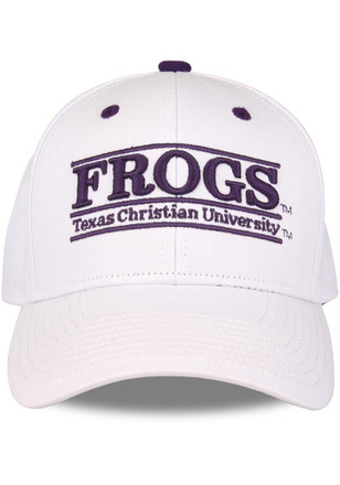 TCU Horned Frogs White Nickname Bar Adjustable Hat 5a6e5adabf4