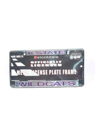 K-State Wildcats Black Metal License Frame