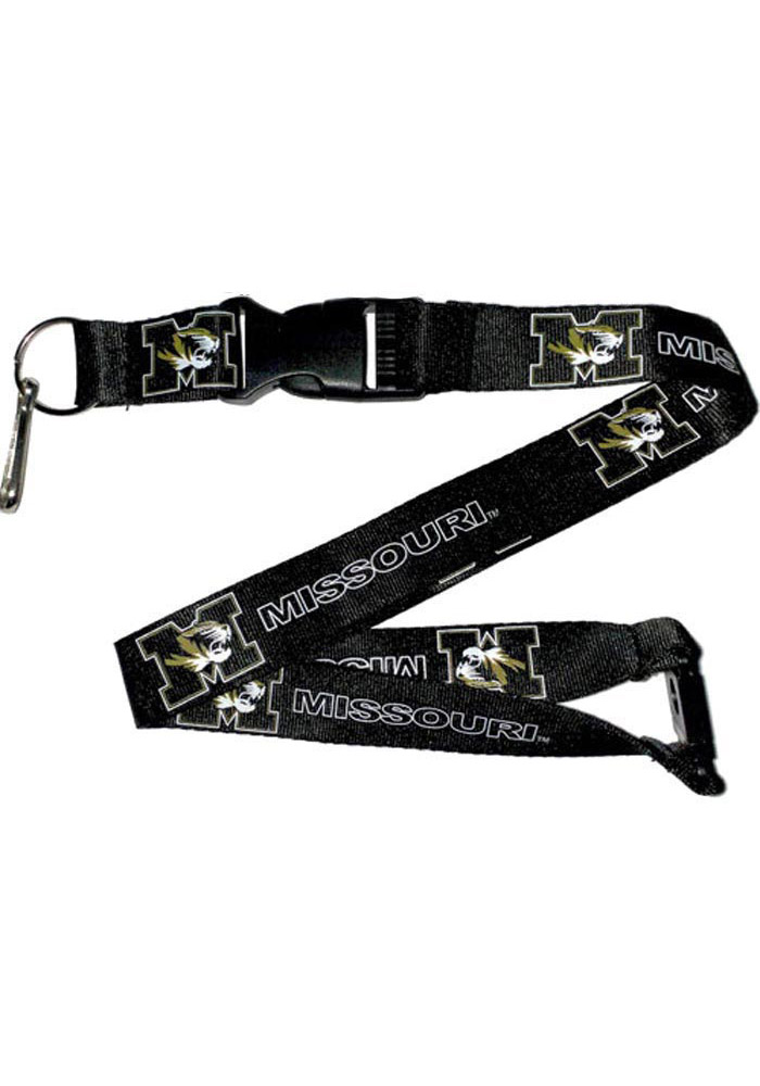 Missouri Tigers Black Buckle Lanyard - Image 1