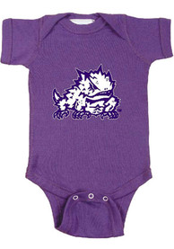 TCU Horned Frogs Baby Purple Big Mascot One Piece
