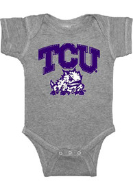 TCU Horned Frogs Baby Grey #1 One Piece