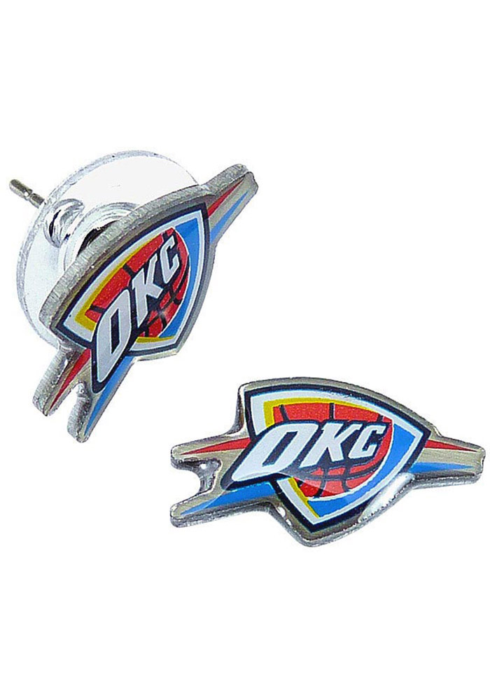 Oklahoma City Thunder Logo Post Womens Earrings - Image 1