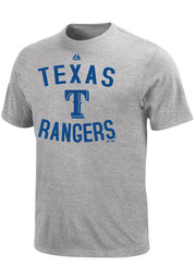 Majestic Texas Rangers Youth Grey Authentic Edge T-Shirt