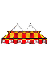 Kansas City Chiefs 40 Inch Stained Glass Red Billiard Lamp