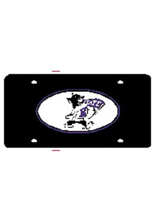 K-State Wildcats Willie Oval Blacke Car Accessory License Plate