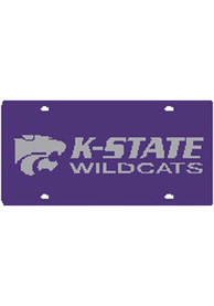 K-State Wildcats Purple Team Name, Logo Car Accessory License Plate