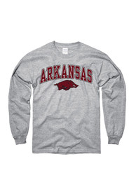 Arkansas Razorbacks Youth Grey Midsize Arch T-Shirt