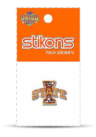 Iowa State Cyclones Glitter and Rhinestone Tattoo