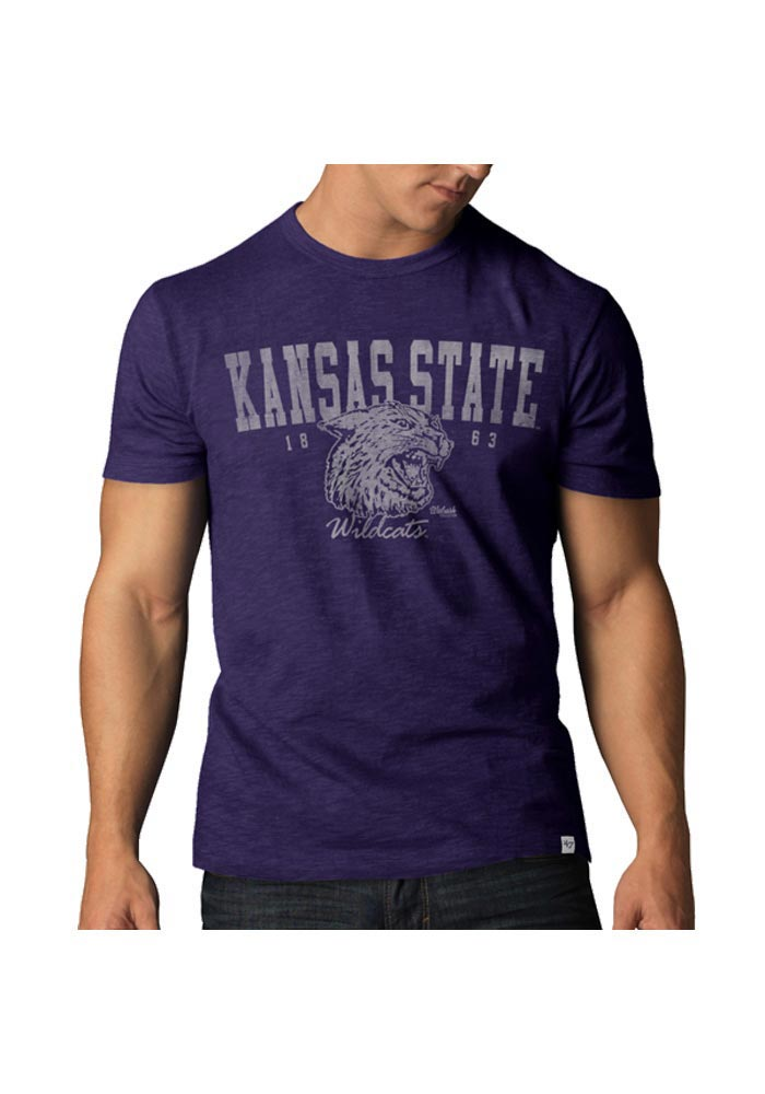 '47 K-State Wildcats Mens Purple Vintage Short Sleeve Fashion T Shirt - Image 1