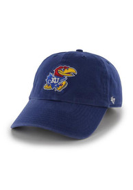Kansas Jayhawks Youth 47 Clean Up Adjustable Hat - Blue