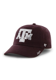 47 Texas A&M Aggies Womens Maroon Sparkle Adjustable Hat