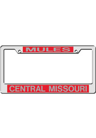 Central Missouri Mules Red License Frame