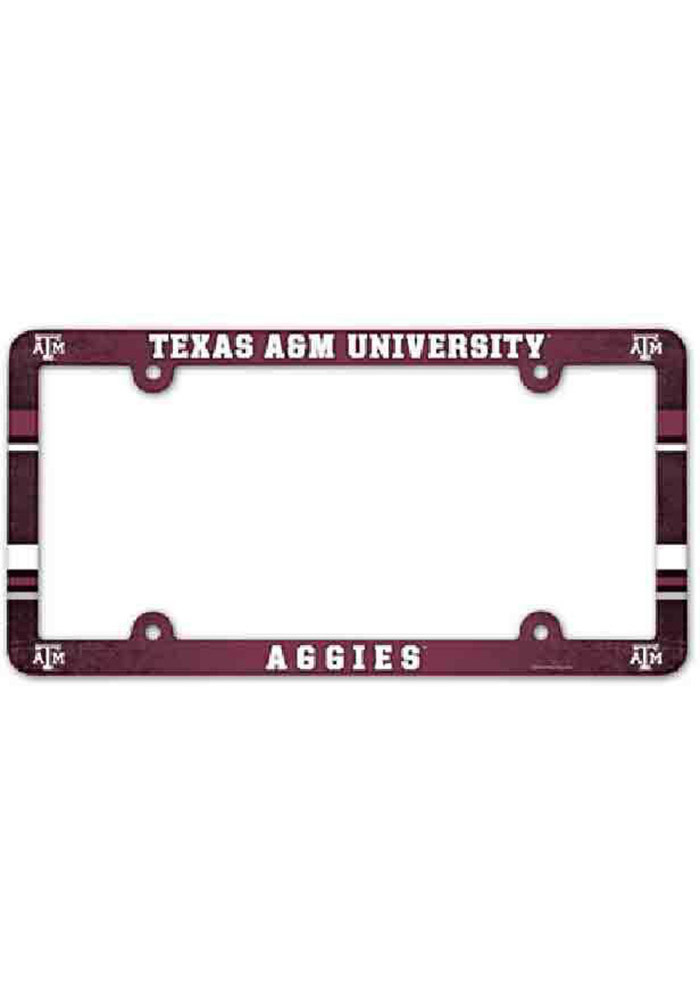 Texas A&M Aggies Plastic Full Color License Frame