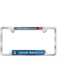Dallas Mavericks Silver Chrome License Frame
