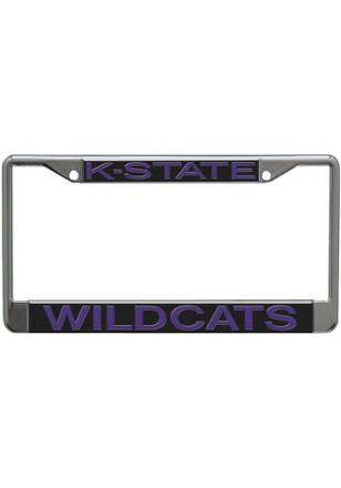 K-State Wildcats Silver Chrome License Frame