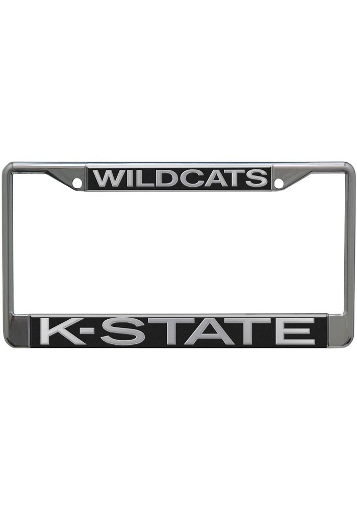 K-State Wildcats silver Acrylic License Frame - Image 1