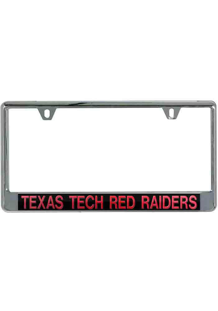 Texas Tech Red Raiders Silver Chrome License Frame - Image 1