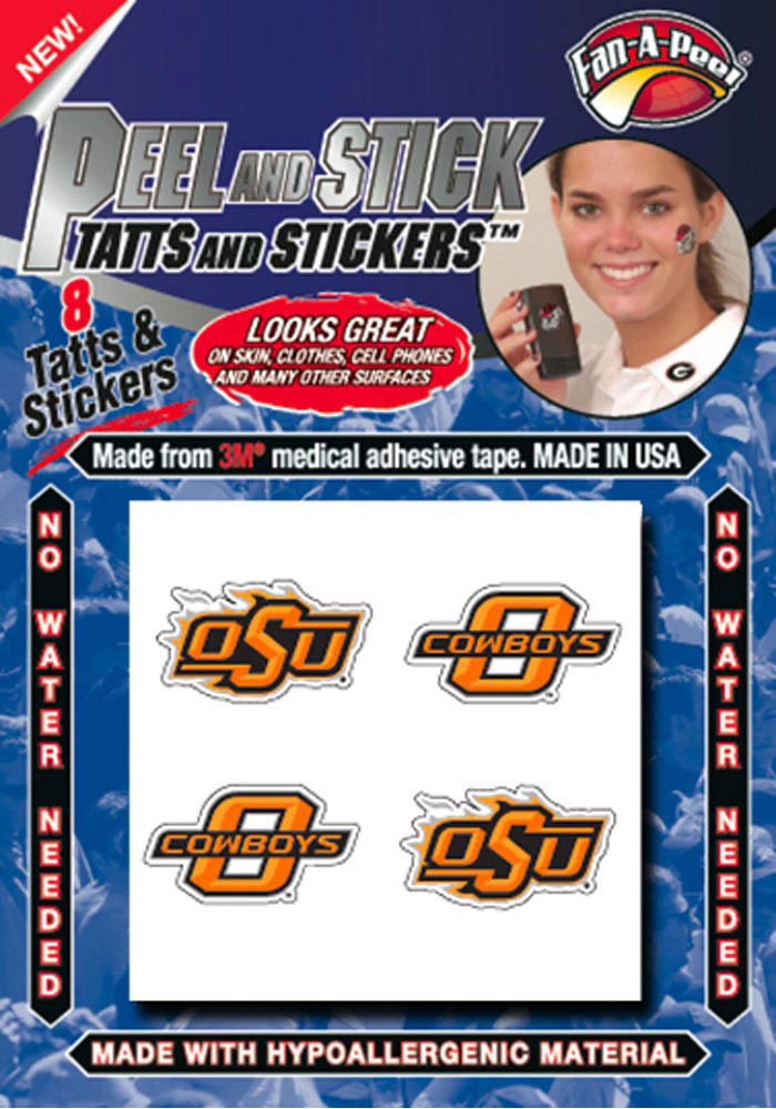 Oklahoma State Cowboys 8 Pack Tattoo - Image 1